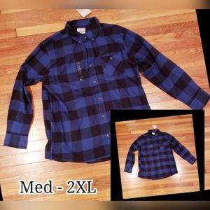 Blue & Black Buffalo Plaid Flannel Shirt